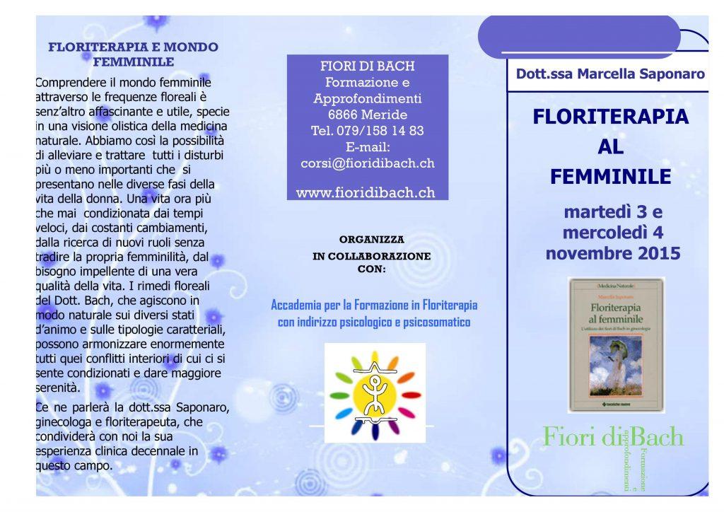 Floriterapia e mondo femminile, seminario a Meride